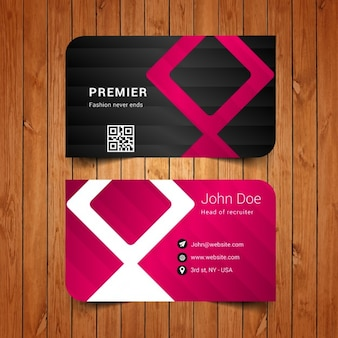 Elegant business card with stripes