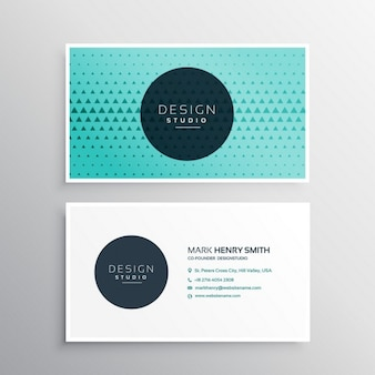 Elegant business card with triangles