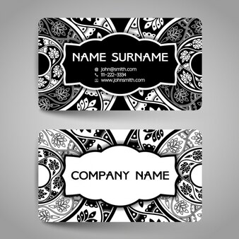 Elegant card with ornamental elements