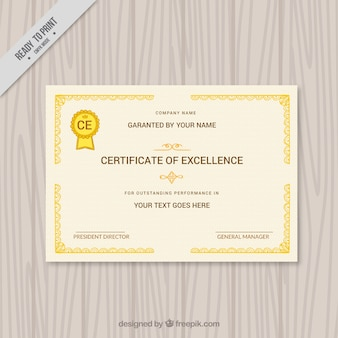 Elegant certificate with ornamental borders