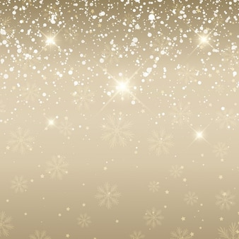 Elegant christmas background with snow