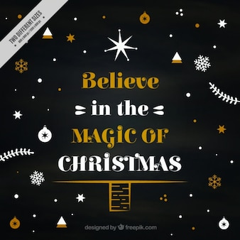 Elegant christmas card with inspiring message