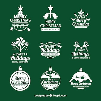 Elegant christmas logo collection