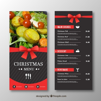 Elegant christmas menu