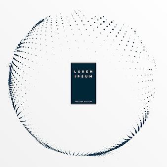 Elegant circular halftone dots background