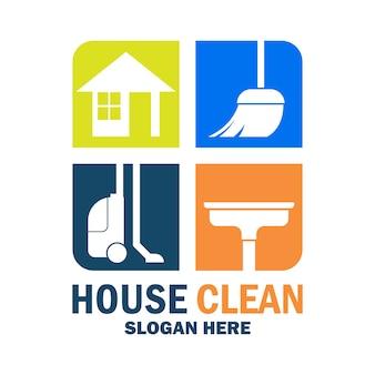Elegant cleaning logo