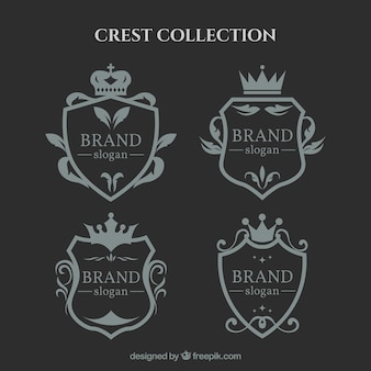 Elegant collection of ornamental shields
