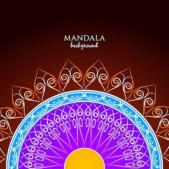 Elegant colorful mandala background