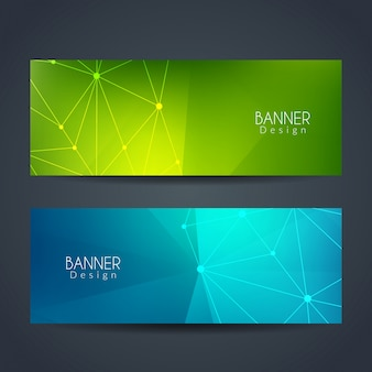 Elegant colorful technology banners