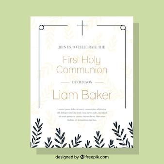 Elegant communion invitation
