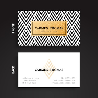 Elegant corporate card with golden detail