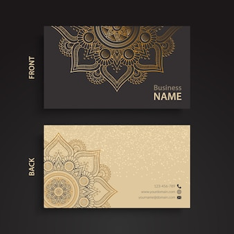 Elegant corporate card with ornaments