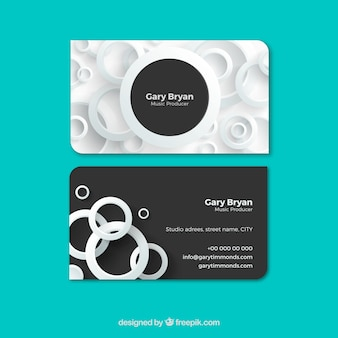 Elegant corporate card with white circles