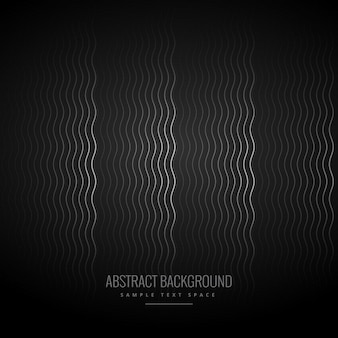 Elegant dark black background with waves