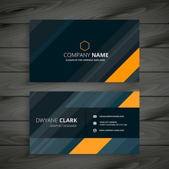 Elegant dark business card
