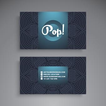 Elegant dark business card