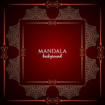 Elegant dark red luxury mandala background