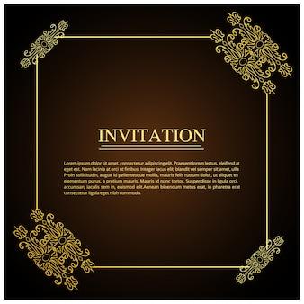 Elegant dark wedding invitation template