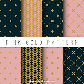 Elegant decorative patterns set