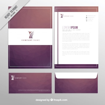 Elegant design of business stationery