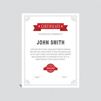 Elegant diploma with a red ribbon