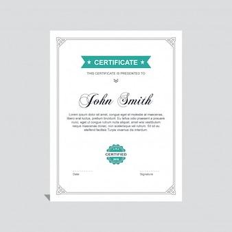 Elegant diploma with a ribbon