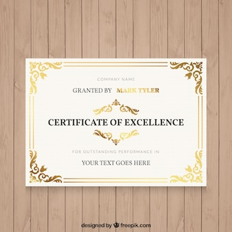 装飾用の詳細とエレガントな卒業証書
