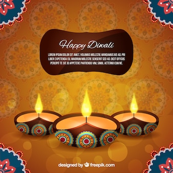 Elegant diwali background