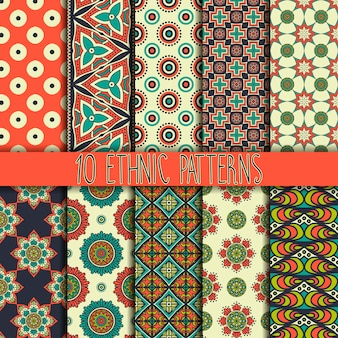 Elegant ethnic pattern collection