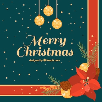 Elegant flat christmas background