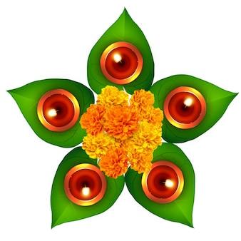 Elegant floral design for diwali festival