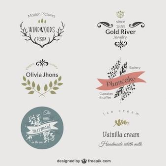 Elegant floral logos