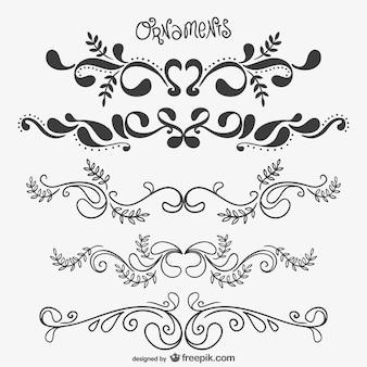 Elegant floral ornaments