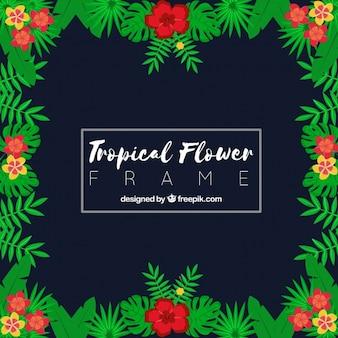 エレガントな花のフレーム