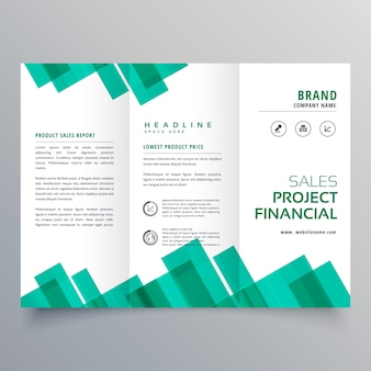 Elegant geometric business brochure vector design template