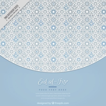 Elegant geometric eid al-fitr background