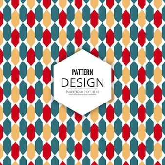 Elegant geometric shapes ornamental pattern