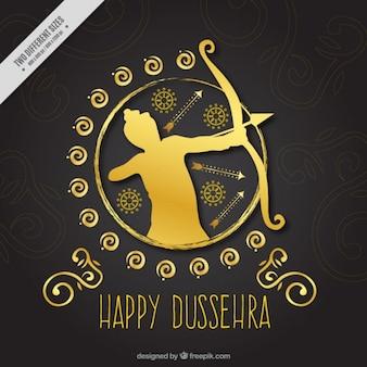 Elegant golden background of dussehra