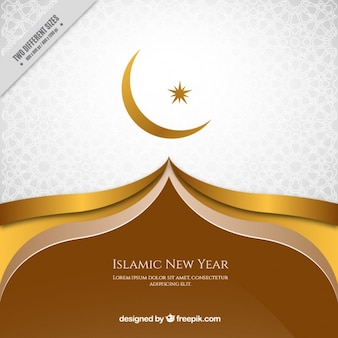 Elegant golden background of islamic new year