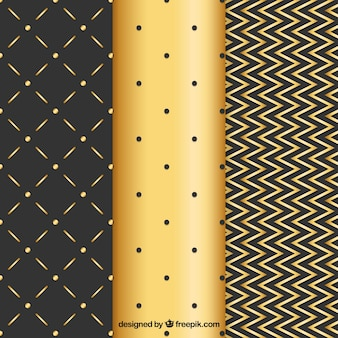 Elegant golden background of lines and dots