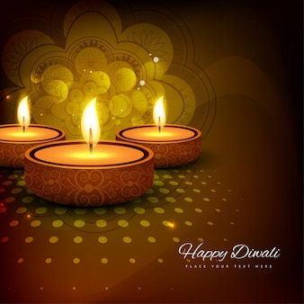 Elegant golden diwali background
