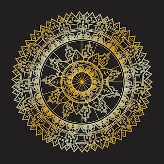 Elegant golden mandala design