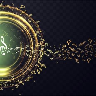Elegant golden music background