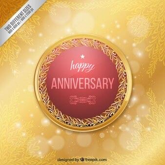 Elegant happy anniversary badge