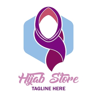 Elegant hijab logo
