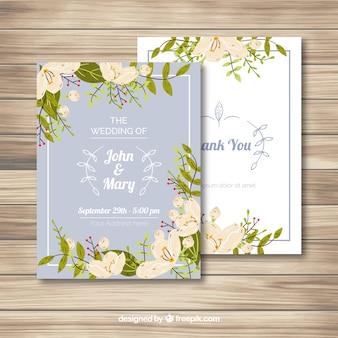 Elegant jasmine card