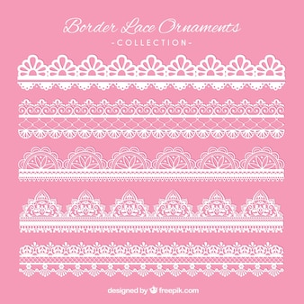 Elegant lace borders for decoration