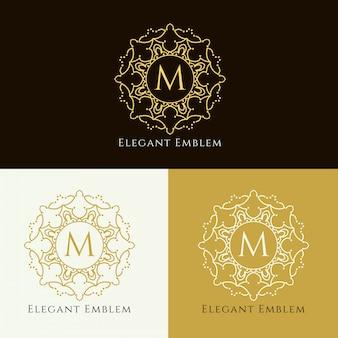 抽象的なエレガントな紋章のデザインの背景