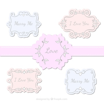 Elegant love frames