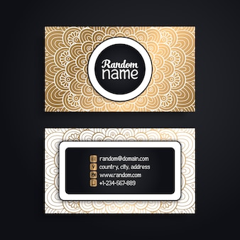 Elegant luxury mandala visiting card